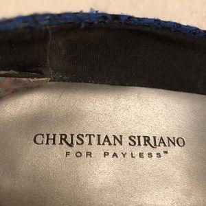 Christian Siriano Shoes - Christian Siriano blue snake heels